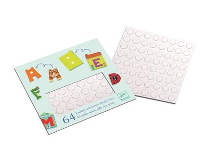 Djeco Dubbelzijdige Sticker letters