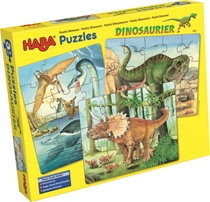 Puzzel Dino's 3in1