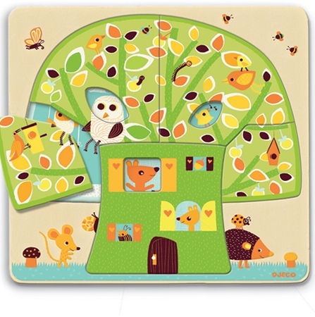Djeco 3 Lagen puzzel Boomhut