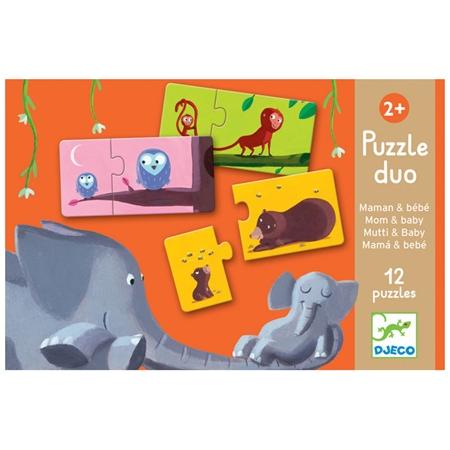 Djeco Duo Puzzel Mama & Baby