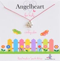 Angelheart Bloem aan roze zijden koordje