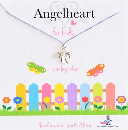 Angelheart Engeltje aan blauw zijden koordje