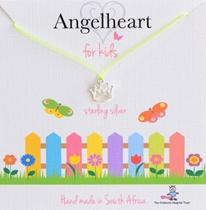 Angelheart Kroon aan geel zijden koordje