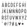 A Little Lovely Company Lightbox Basic Letter set