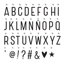 Lightbox Basic Letter set