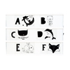 A Little Lovely Company Lightbox Letter set ABC zwart