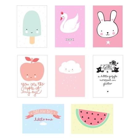 A Little Lovely Company Lightbox Sheets Little Girl