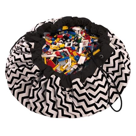 Play & Go Opbergzak Zigzag Zwart