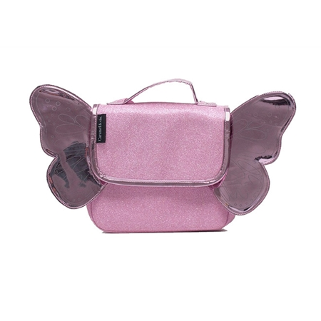 Caramel & Cie Boekentas Vlinder Roze glitter