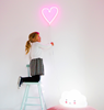 A Little Lovely Company Neon Lamp Hart roze