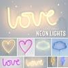 A Little Lovely Company Neon Lamp Wolk blauw