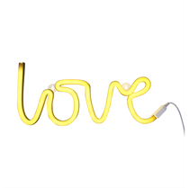 Neon Lamp Love Geel