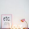 A Little Lovely Company Neon Lamp Love Geel