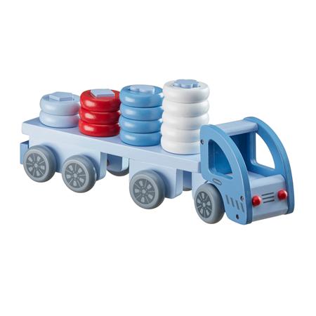 Kids Concept Vrachtwagen met vormpjes Blauw