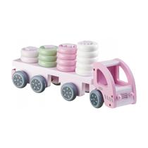 Vrachtwagen met vormpjes Roze