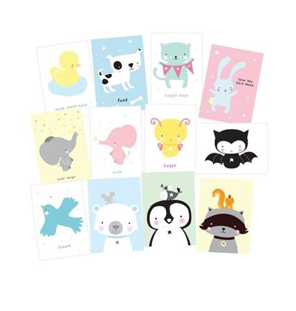 A Little Lovely Company Postkaarten Cute Animals