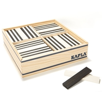 100st Gekleurde plankjes Zwart-Wit