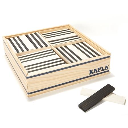 Kapla 100st Gekleurde plankjes Zwart-Wit