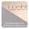 Wobbel Original Balance Board Blank gelakt  Vilt Babymuis