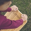 Wobbel Balance board Bamboo Vilt muis