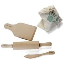 Houten toolset voor speelklei