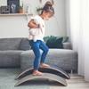 Wobbel Pro Balance Board Blank gelakt  Vilt Mosterd