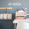 Ay-Kasa Opvouwbaar kratje Midi Milk Tea