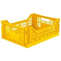 Opvouwbaar kratje Midi Yellow