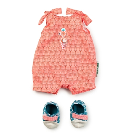 Lilliputiens Poppen Jumpsuit met pantoffels