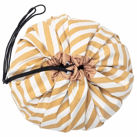 Play & Go Opbergzak Stripes Mustard