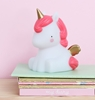A Little Lovely Company Mini Unicorn Gold lampje