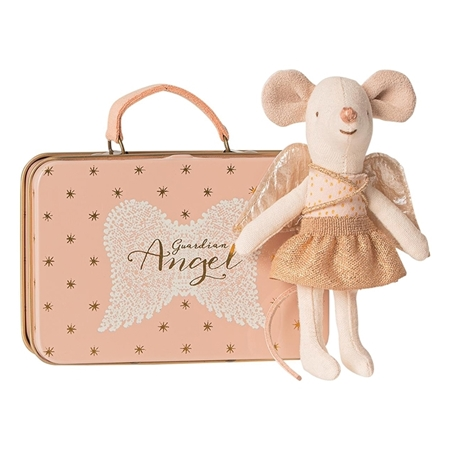 Maileg Angel Mouse in Suitcase
