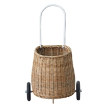 Rieten Luggy trolley naturel