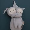 Fabelab Knuffeltje met rammelaar Bunny