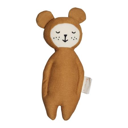 Fabelab Knuffeltje met rammelaar Bear