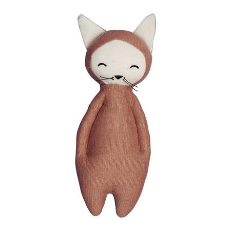 Fabelab Knuffeltje met rammelaar Fox