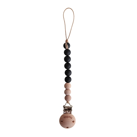 Mushie Tutketting Black Wood