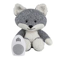 Muziekknuffel met hartslag Robin the fox Grey