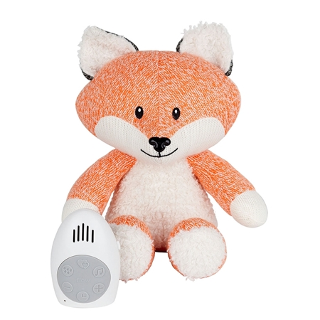 Flow Amsterdam Muziekknuffel met hartslag Robin the Fox Oranje