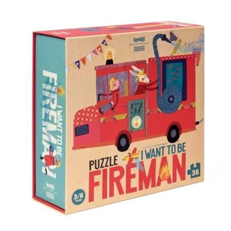 Londji I want to be a fireman Puzzel 36st