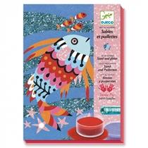 Zandkunst Regenboog Vissen