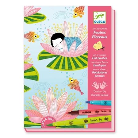 Djeco Nummerkunst Verfstiften Waterlelie