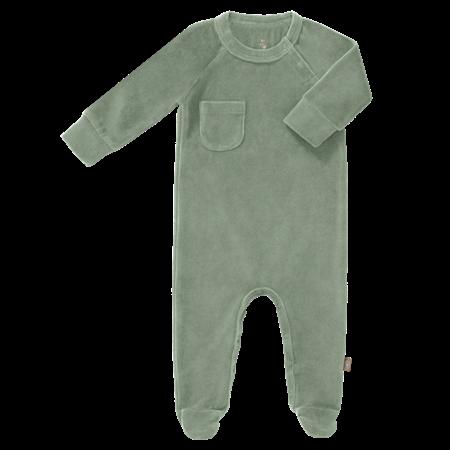 Fresk Pyjama met voetjes Green Velours