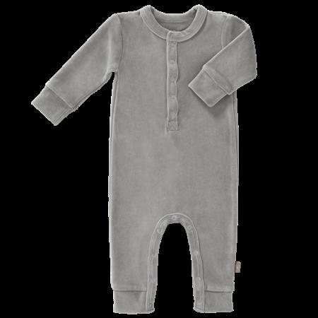 Fresk Pyjama met voetjes Grey velours