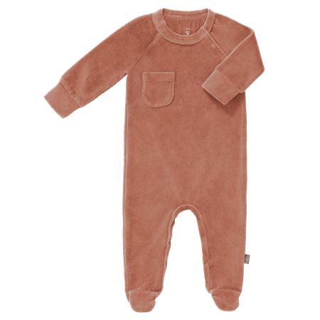 Fresk Pyjama met voetjes Ash Velours