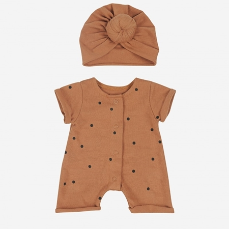 Little Bonjour Jumpsuit Doll Dots Nut