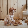 Little Bonjour Babymust Knot Beanie Cream