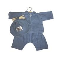 Hemd en broek Mao Blue Artic