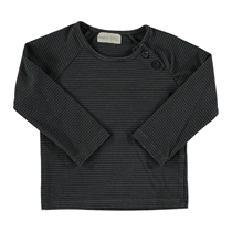 T-shirt striped anthracite