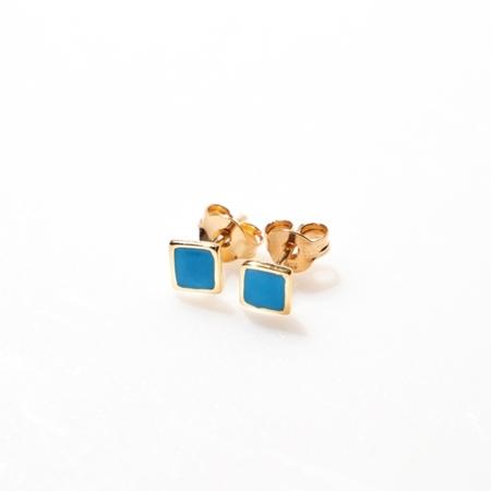 Selva Sauvage oorbellen square blauw